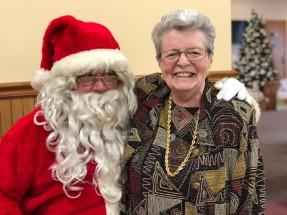 Mom and Santa